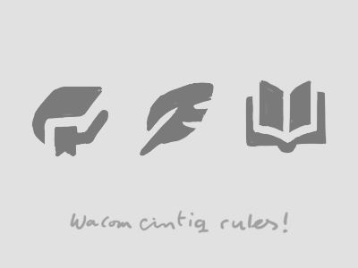 Handsketch_reading_icons