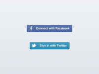 Facebook / Twitter Sign-in Buttons