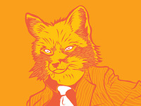 Mr fox (close up) - sticker