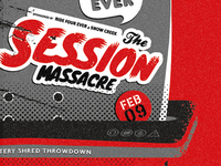 2013 session massacre shredder poster