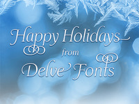 Happy Holidays from Delve Fonts