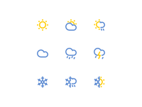 Minimal Weather Icon Set