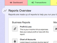 New Reports Area of LessAccounting.com