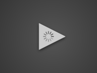 Play button with loading indicator