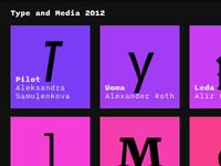 Type and Media 2012 Home Screen