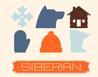 SIBERIAN sled teams - Icon Set
