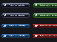 Twitter Follow Buttons .psd