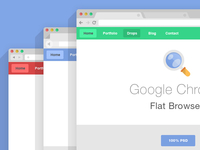 Flat Psd Browsers Set