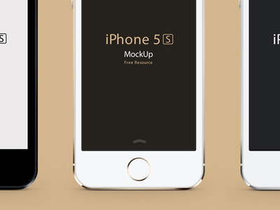 Download iPhone 5S Photoshop PSD Vector Mockup