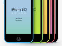 iPhone 5C Psd Vector Mockup