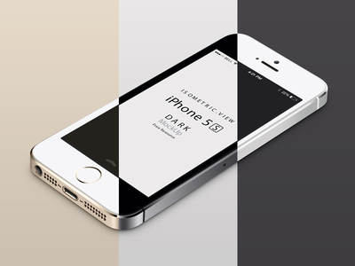 Download Perspective iPhone 5S PSD Vector Mockup