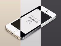 Perspective iPhone 5S Psd Vector Mockup