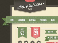 Retro Ribbons (Freebie)
