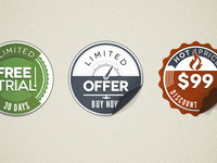 Psd Modern Vintage Stickers Badges (Freebie)