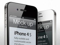 iphone 4s template psd mock-up (Freebie)