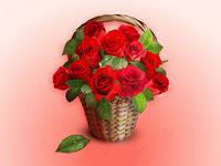 Vector Roses Basket (Freebie)