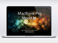 MacBook Pro Retina Psd Mockup (Freebie)
