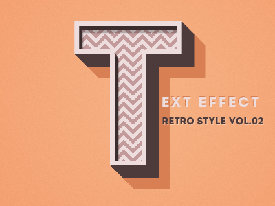 Download PSD Retro Text Effect