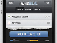 Fabric iPhone App UI Kit Psd