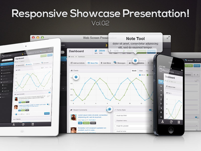 Download Free Responsive Showcase PSD