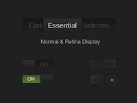 Free Dark Essential Switches Psd