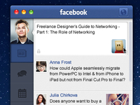 Facebook App for Mac OS X Lion