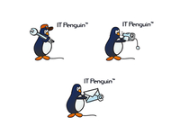 Variations for a logo - IT Penguin