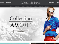 L'Amie de Paris - Eshop homepage test