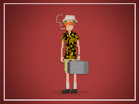 Hunter S Thompson Pixel art