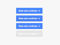Save and continue button states