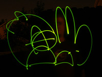Anarchy Bunny via Light Painting