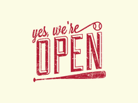 Yes, We're Open