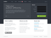 Startup for online auditions