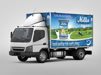 Lorry Branding Mock Up