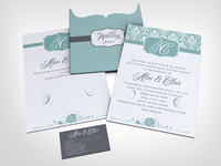 Wedding Invitation Jacket Mock Up