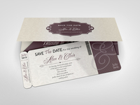 Boarding Pass Invitations Mock-up