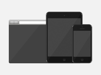 Three devices, an illustration