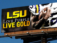 LSU Football Billboard in Atlanta