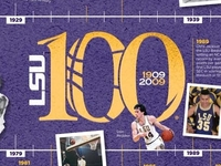 100 Years of LSU Basketball Poster - 2009