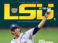 2013 LSU Baseball Game Program Masthead