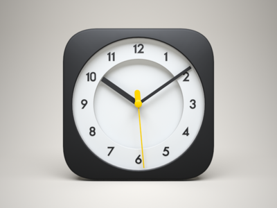 3D iOS Clock Icon