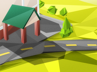 Scene, Fake Low-Poly