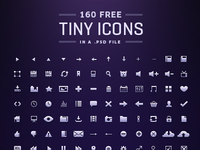 160 tiny Icons [Free PSD]
