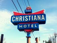 The Christiana Motel Sign