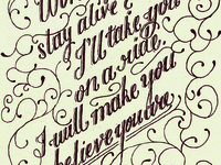Believe You're Lovely lettering