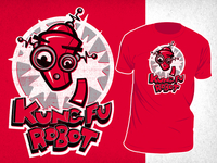 Red Kung Fu Robot Shirt