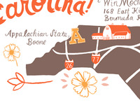 NC wedding map