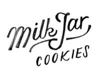 Milk Jar Cookies logo sketch