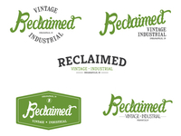 Quick logo options for Reclaimed Vintage Industrial.