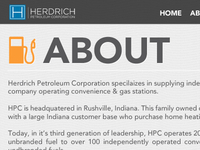 In Progress: Herdrich Petroleum Website